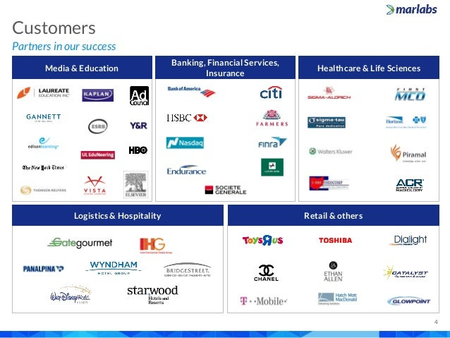 Partners in our success Customers 4 Media & Education Banking, Financial Services, Insurance Healthcare & Life Sciences Lo...