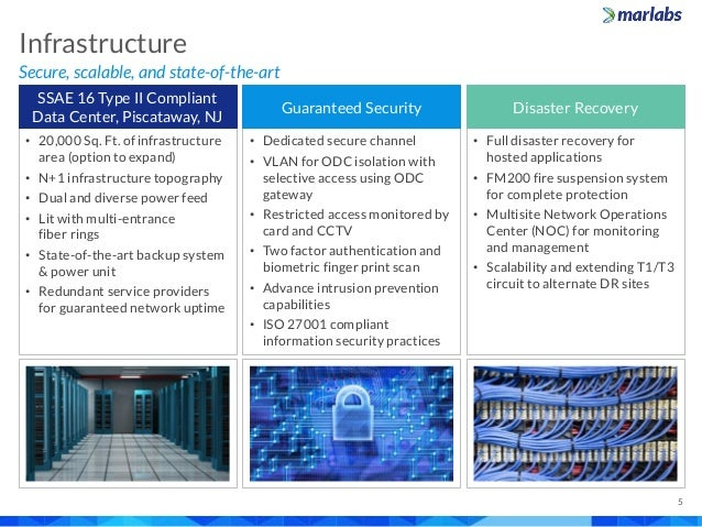 Secure, scalable, and state-of-the-art Infrastructure 5 • 20,000 Sq. Ft. of infrastructure area (option to expand) • N+1 i...