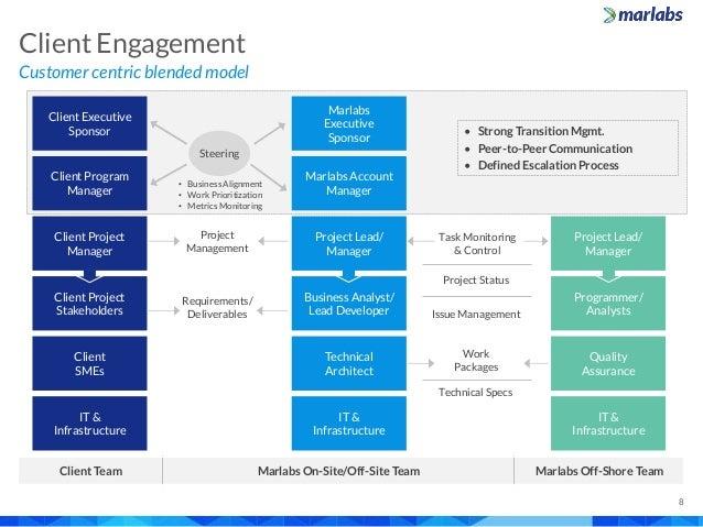Client Project Stakeholders Customer centric blended model Client Engagement 8 Client Executive Sponsor Client Program Man...