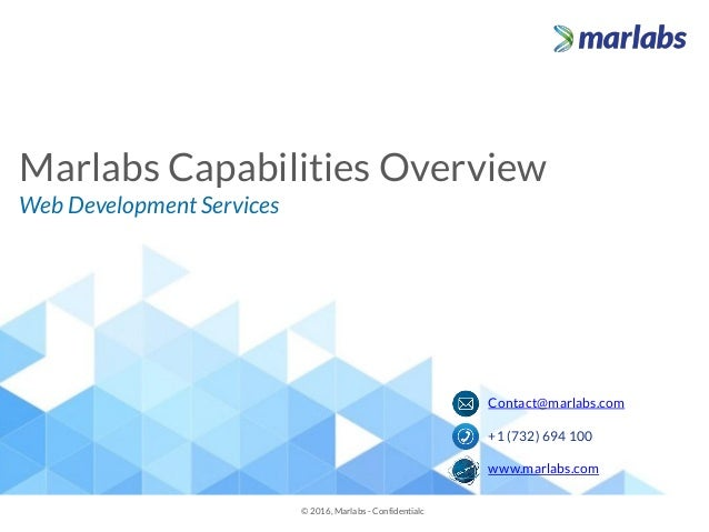 Marlabs Capability Overview Web Development Usability Engineering S