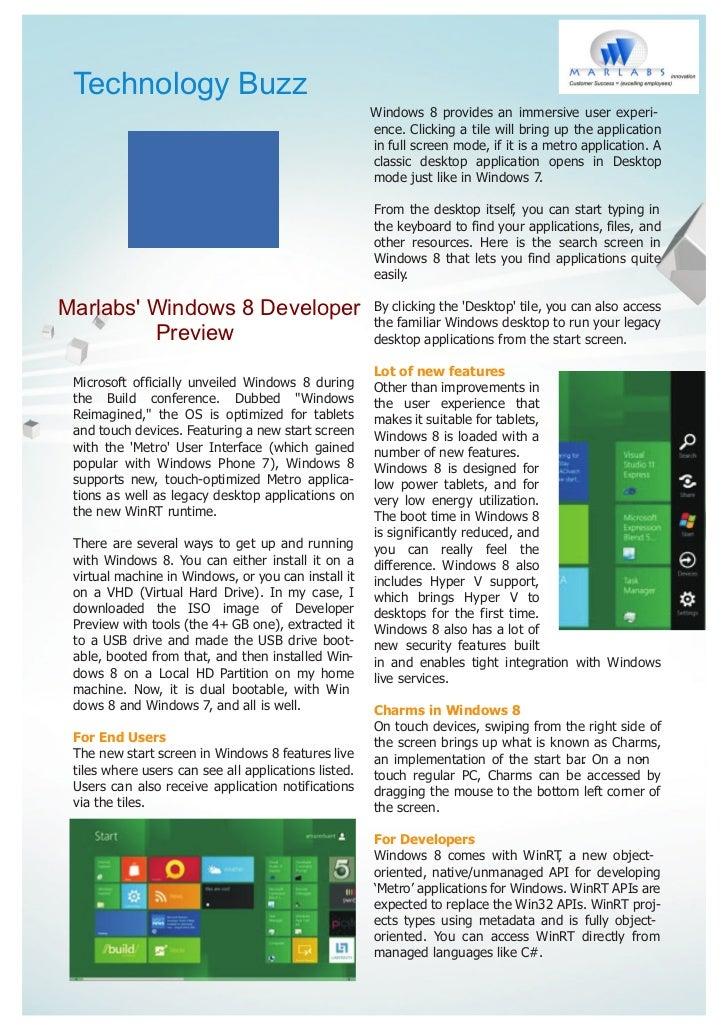 Technology Buzz                                                      Windows 8 provides an immersive user experi-         ...