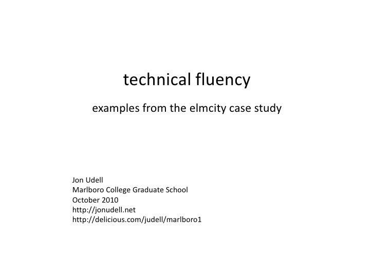 technical fluency