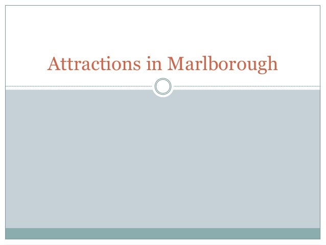 Attractions in Marlborough