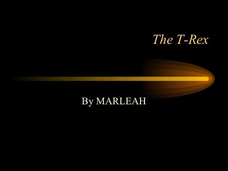The T-Rex By MARLEAH