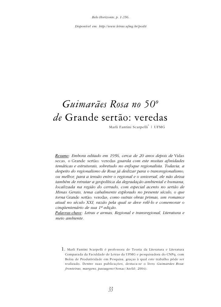 Belo Horizonte, p. 1-356.             Disponível em: http://www.letras.ufmg.br/poslit       Guimarães Rosa no 50º de Grand...