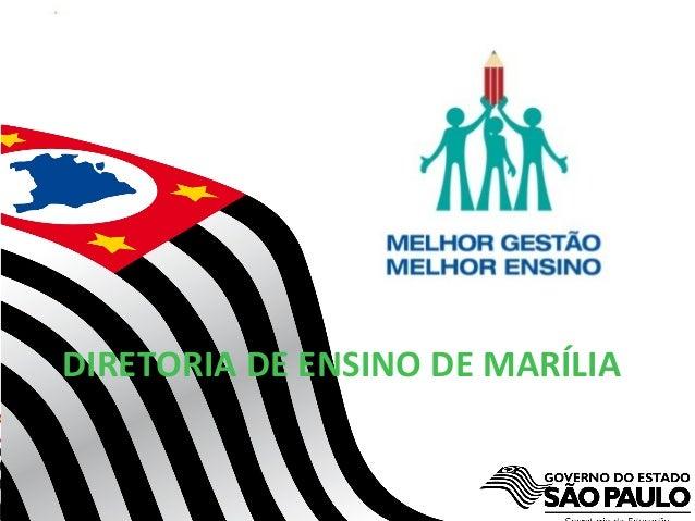 Secretaria da Educação do Estado de São Paulo CGEB/EFAP DIRETORIA DE ENSINO DE MARÍLIA