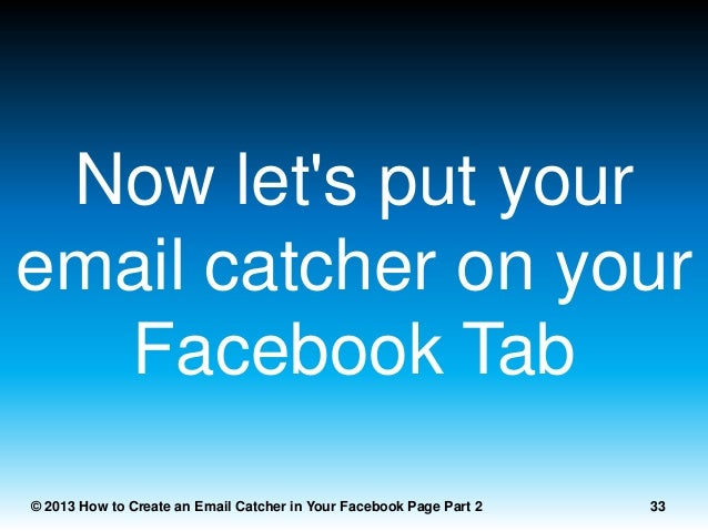how to create facebook email