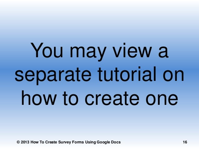 how to create a google form for survey