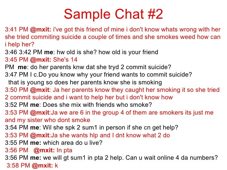 Sample of sex chat