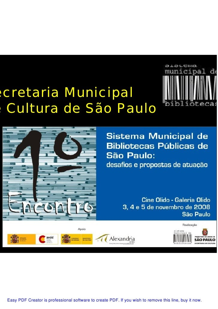 ecretaria Municipal e Cultura de São Paulo                                       Marlon Florian                           ...