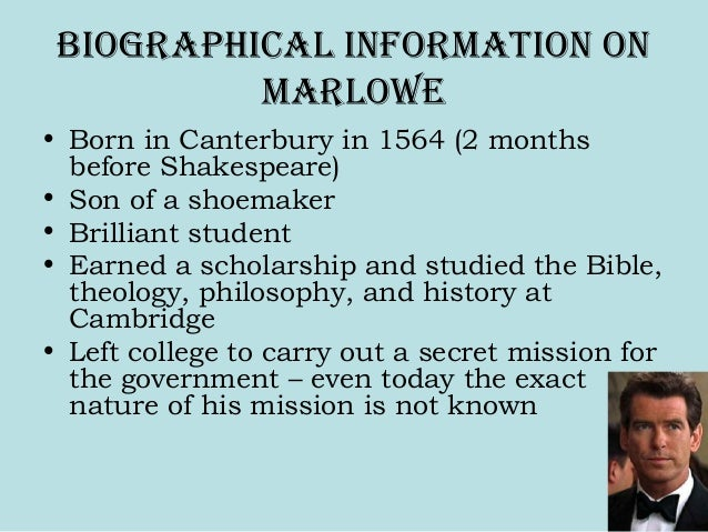 CHRISTOPHER MARLOWE BIOGRAPHY PDF DOWNLOAD