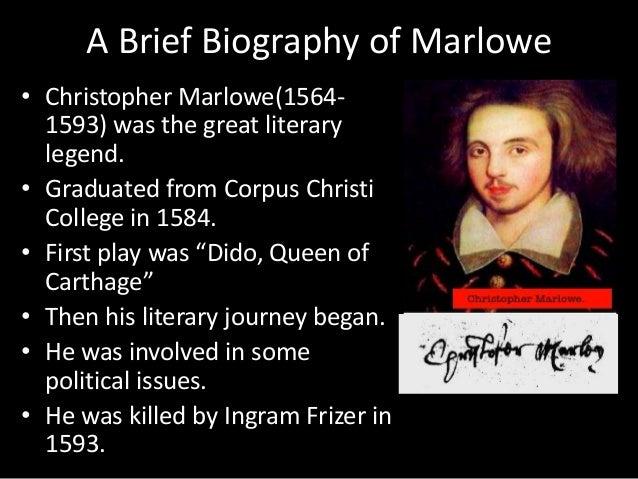 christopher marlowe death