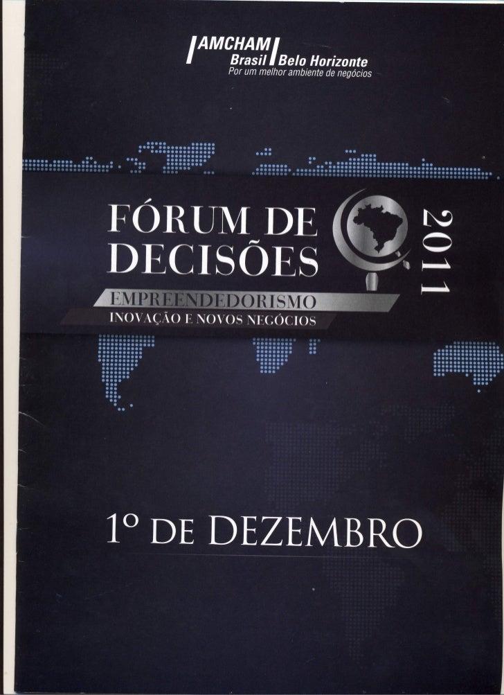 Programação do Fórum de Decisões 2011