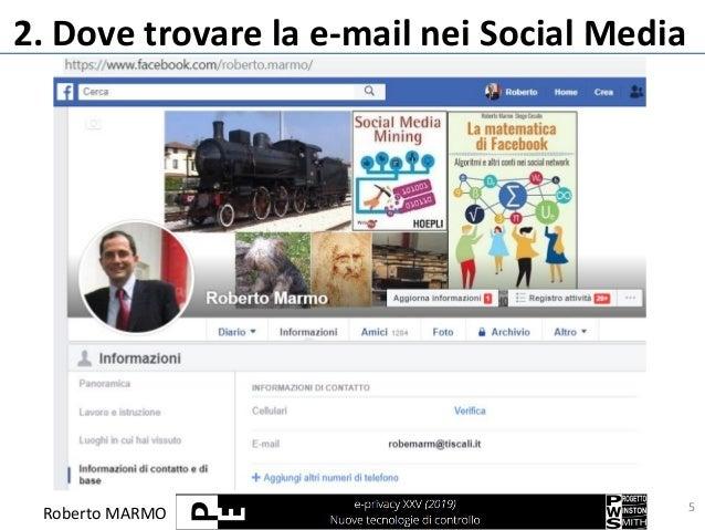 Roberto MARMO 2. Dove trovare la e-mail nei Social Media 5
