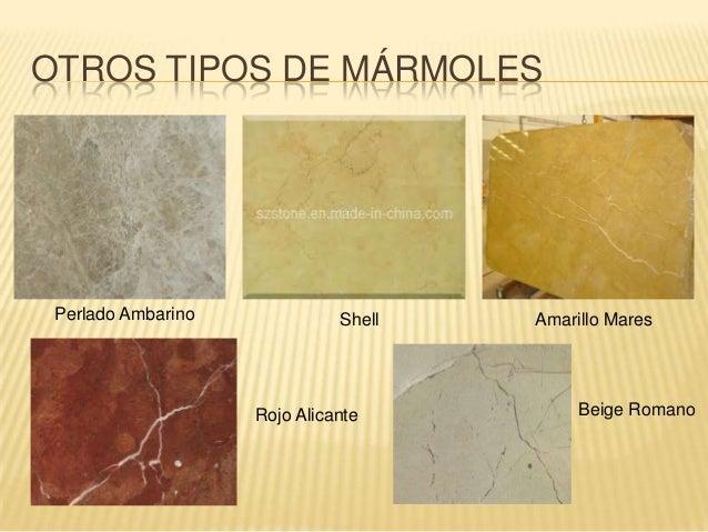 Materiales de construcc n m rmol for Diferentes tipos de marmol
