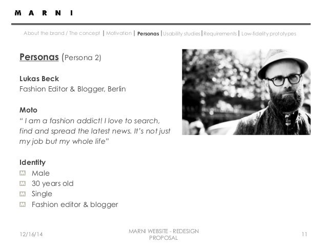 Site Redesign Proposal for Marni