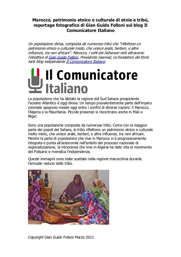 Marocco, patrimonio etnico e culturale di etnie e tribù,  reportage fotografico di Gian Guido Folloni sul blog Il         ...