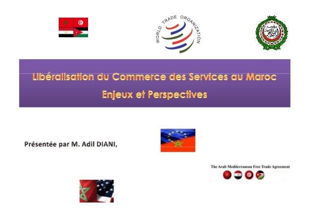  LesLes servicesservices représententreprésentent 2020%% dudu commercecommerce mondialmondial totaltotal etet comptecomp...
