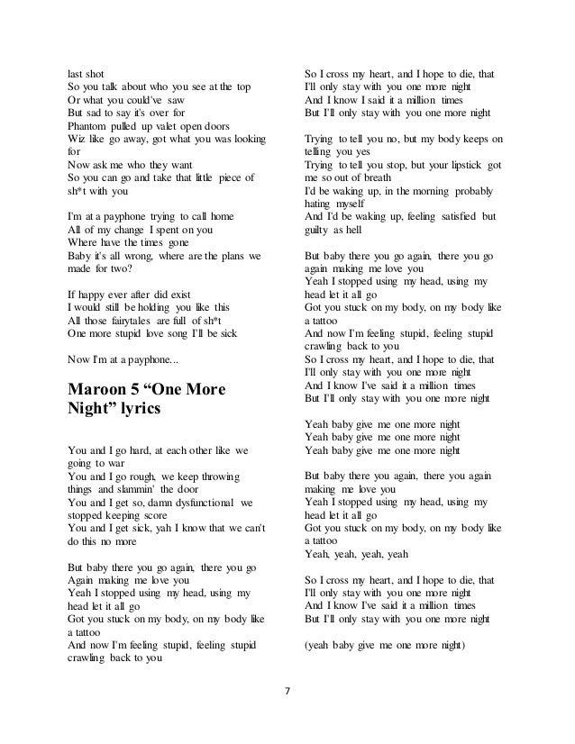 Lyric maroon 5 home without you lyrics : Maroon 5