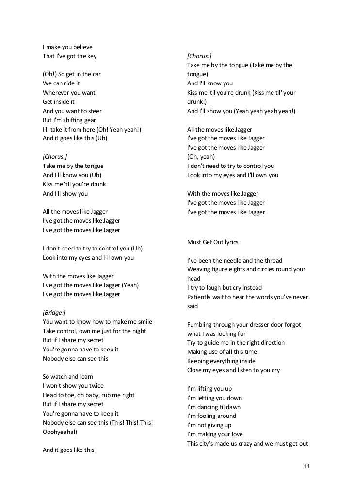 Lyrics of avril songs