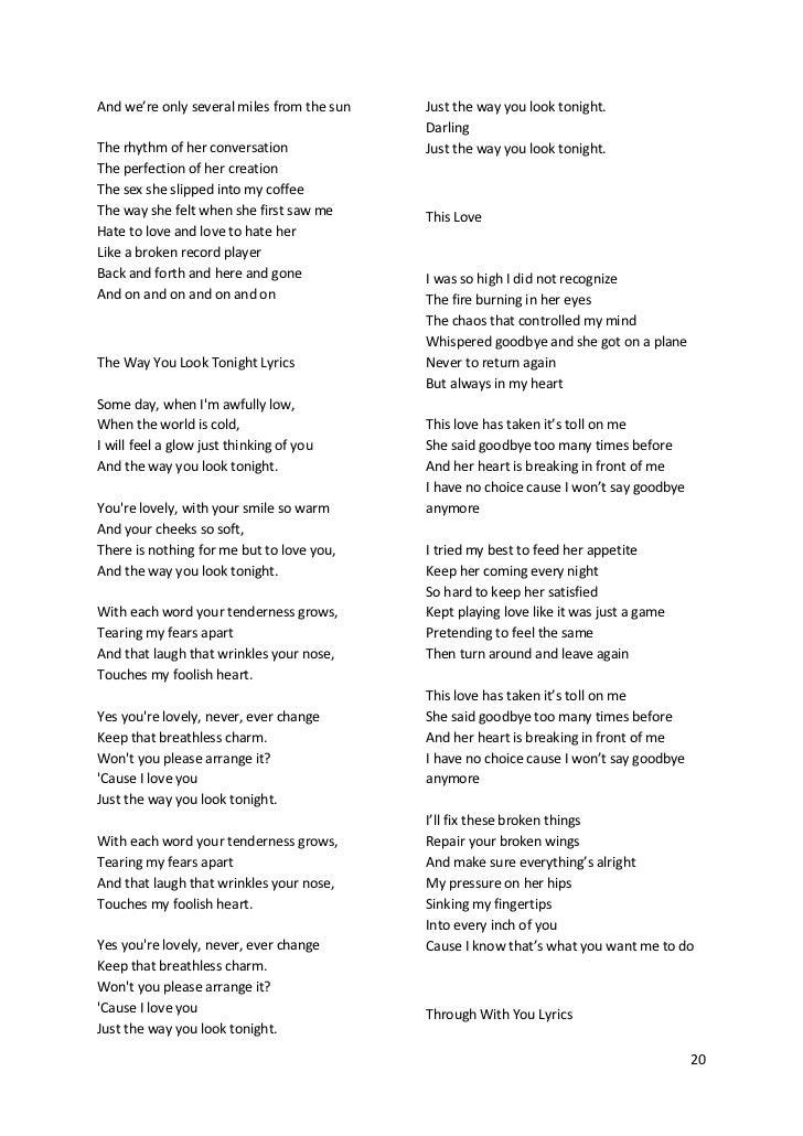 Lyric songs about sex lyrics : Maroon5's songs lyric (lirik lagu Maroon5)