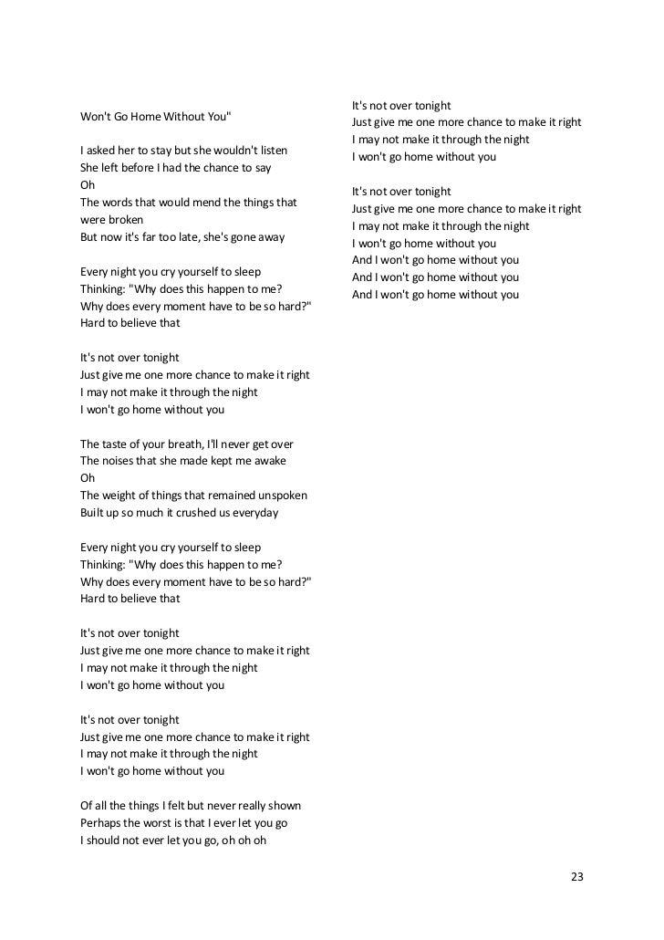 Lirik lagu through the dark