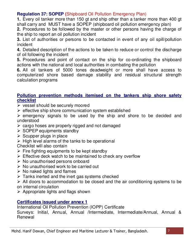 A Short Note On Marpol Regulations