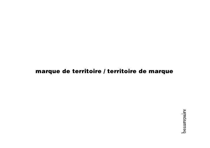 marque de territoire / territoire de marque