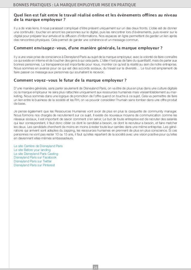 26BONNES PRATIQUES : LA MARQUE EMPLOYEUR MISE EN PRATIQUEQuel lien est fait entre le travail réalisé online et les évèneme...