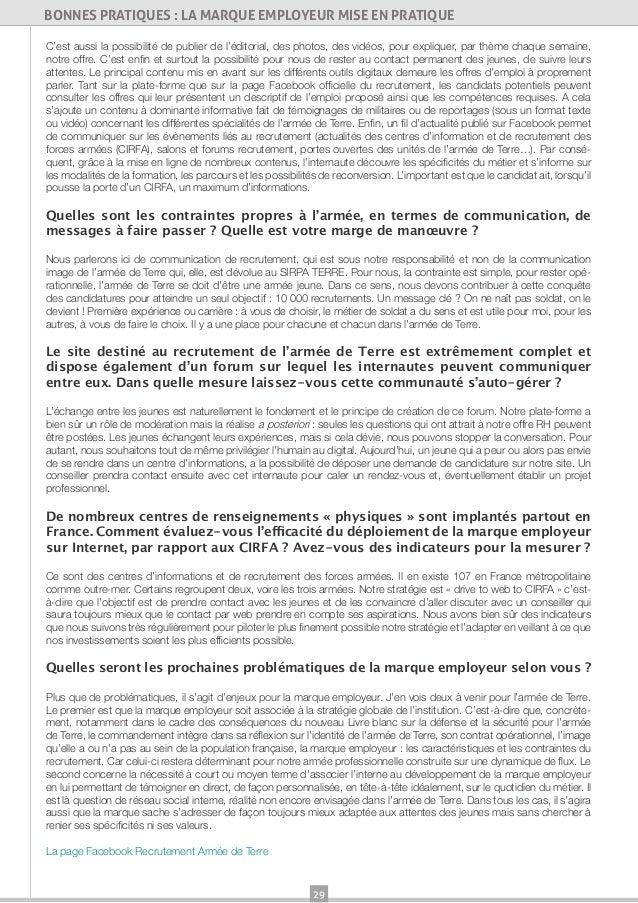 29BONNES PRATIQUES : LA MARQUE EMPLOYEUR MISE EN PRATIQUEC'est aussi la possibilité de publier de l'éditorial, des photos,...