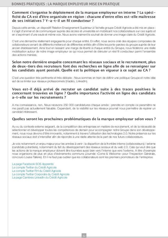 32BONNES PRATIQUES : LA MARQUE EMPLOYEUR MISE EN PRATIQUEComment s'organise le déploiement de la marque employeur en inter...