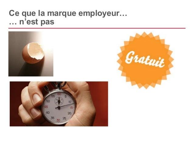 Ce que la marque employeur…  … exige
