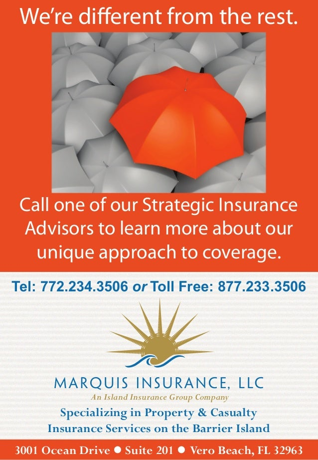 We're different from the rest. Call one of our Strategic Insurance Advisors to learn more about our   unique approach to c...