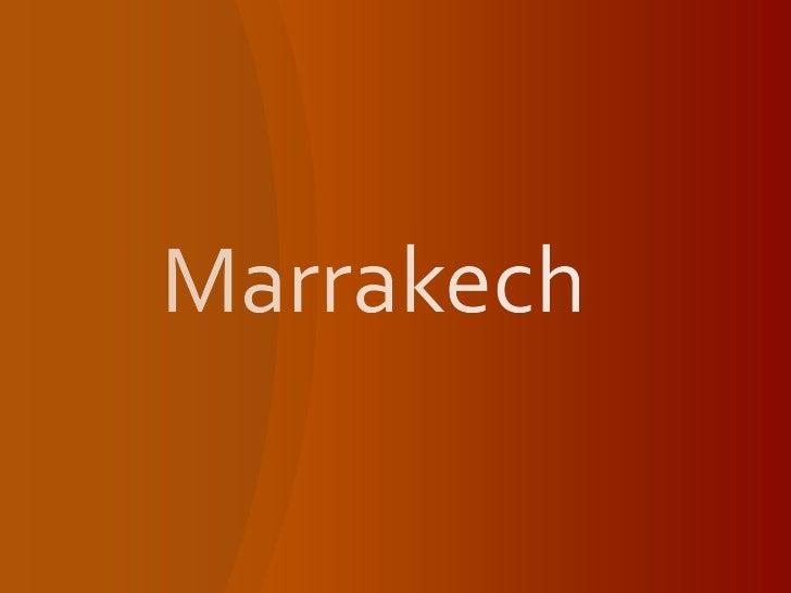 Marrakech<br />
