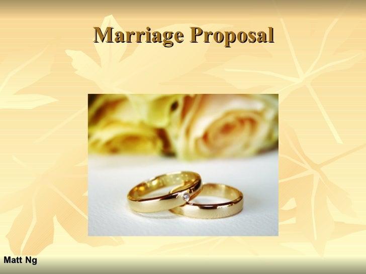 Marriage Proposal Matt Ng