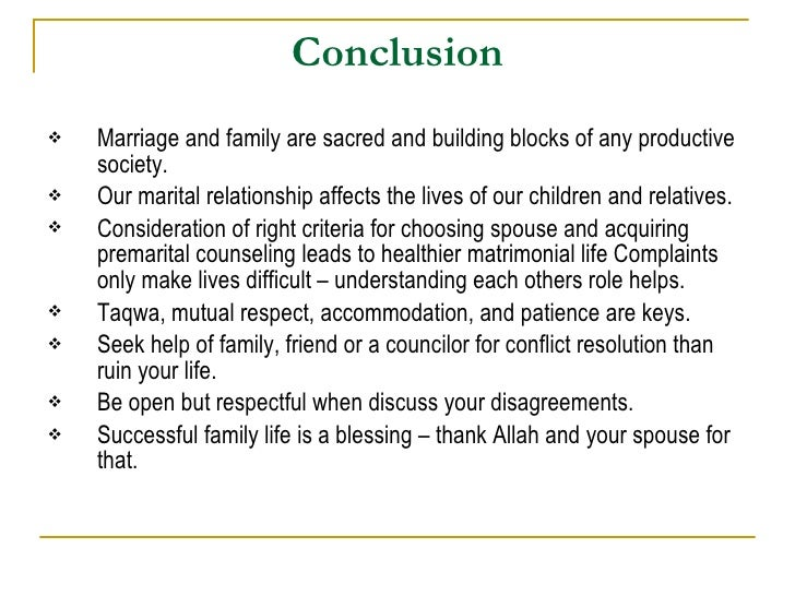 essay on marriage life