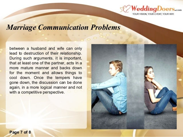 communication failure in marriage T herapy for relationships and marriage when relationship problems point to abuse  therapy for relationships and marriage  some couples may want to develop better communication skills.