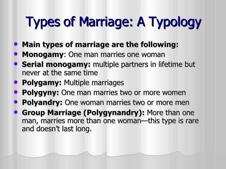 Marriage: Definitions and Variations