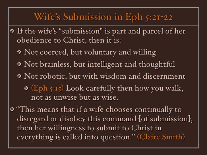 Submissive wife duties