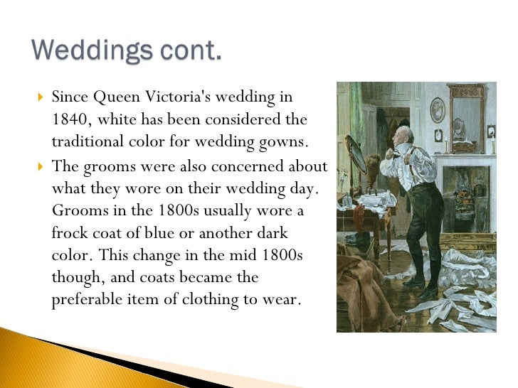 <ul><li>Since Queen Victoria's wedding in 1840, white has been considered the traditional color for wedding gowns.  </li><...