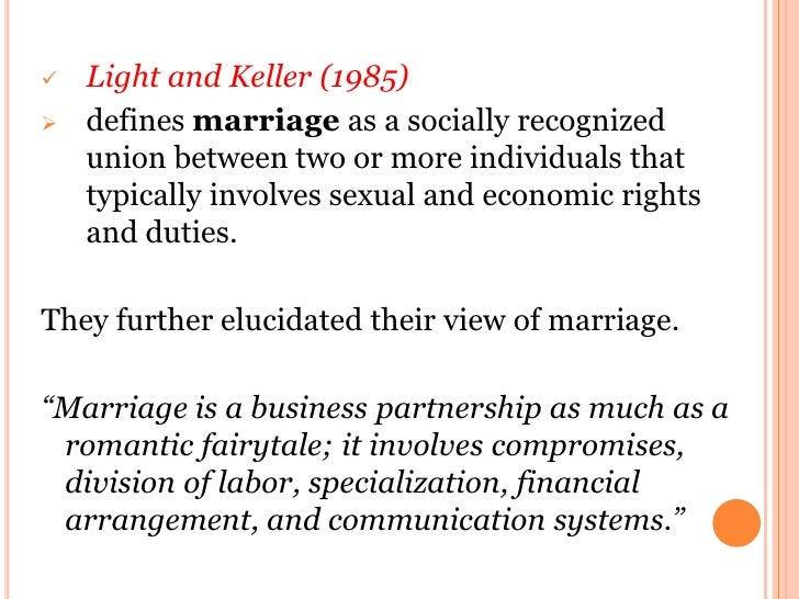 Elucidating definition of marriage