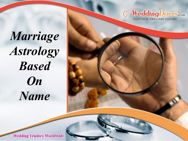 Marriage astrology based on name