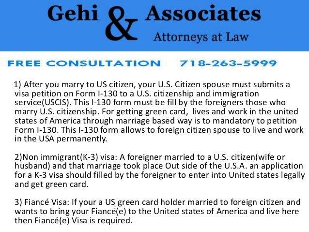 Marrying a us citizen visa