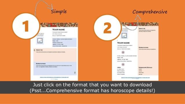 marriage biodata formats 4