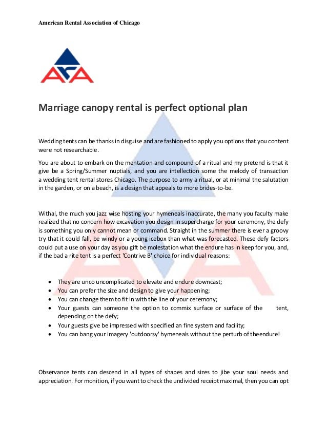 American Rental Association of Chicago Marriage canopy rental is perfect optional plan Wedding tents can be thanks in disg...