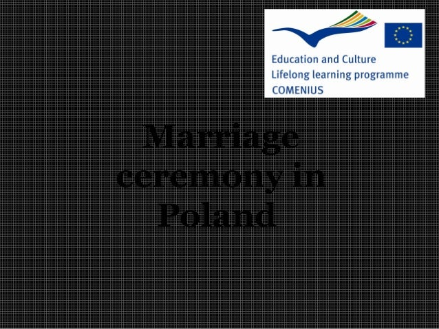 Marriage ceremony in Poland