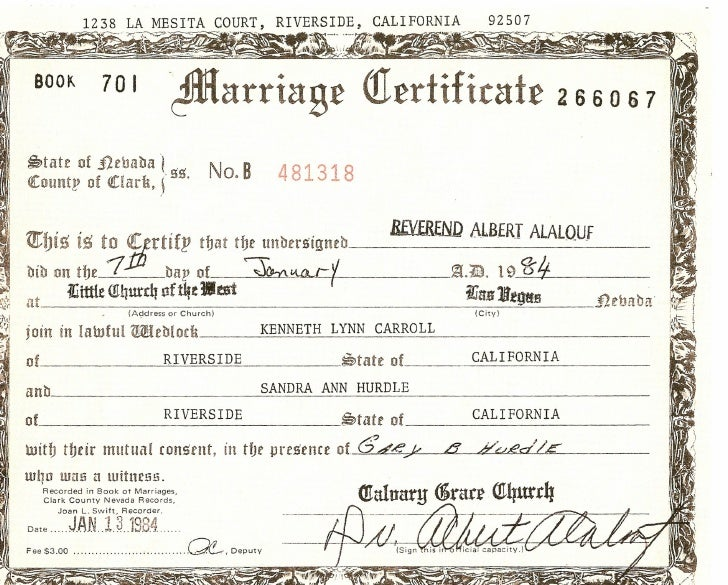 calrk county marriage nevada record