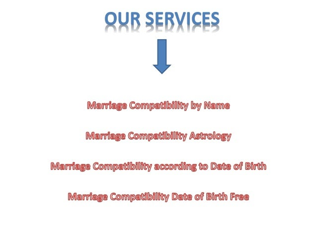 Marriage compatibility based date birth