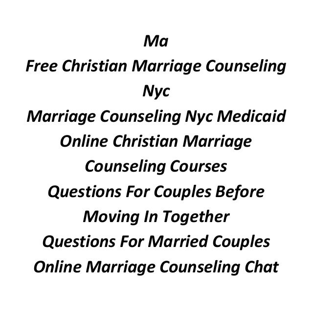Marriage counseling long island new york