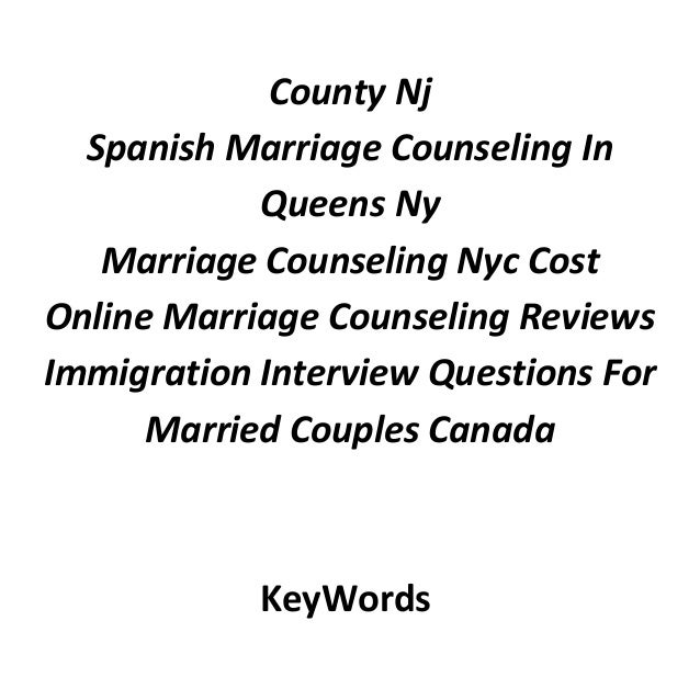 Marriage counseling nj aetna